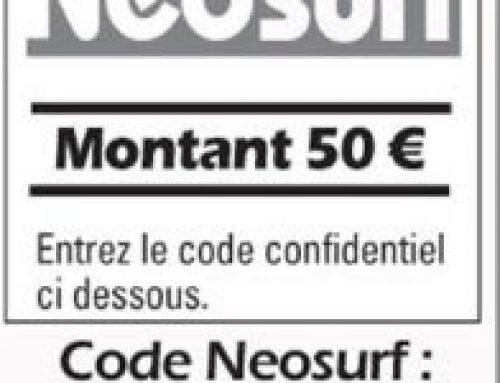 Ticket neosurf belgique
