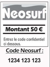 Ticket neosurf